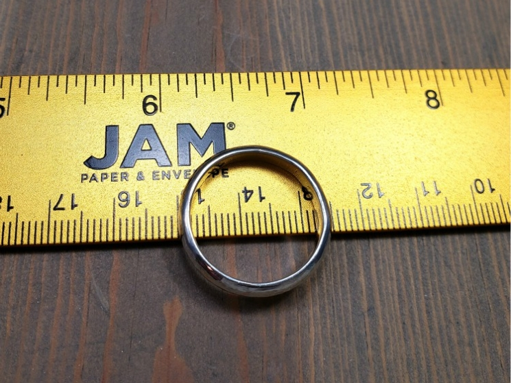 2mm thick solid sterling silver ring