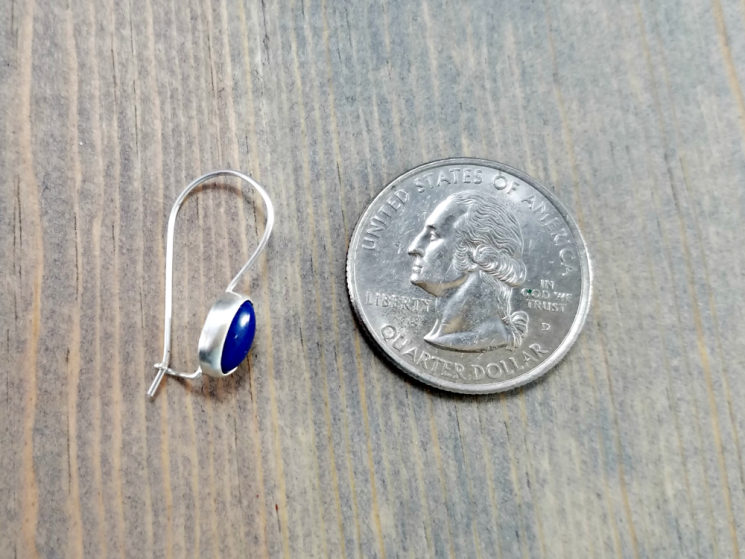 small blue earrings