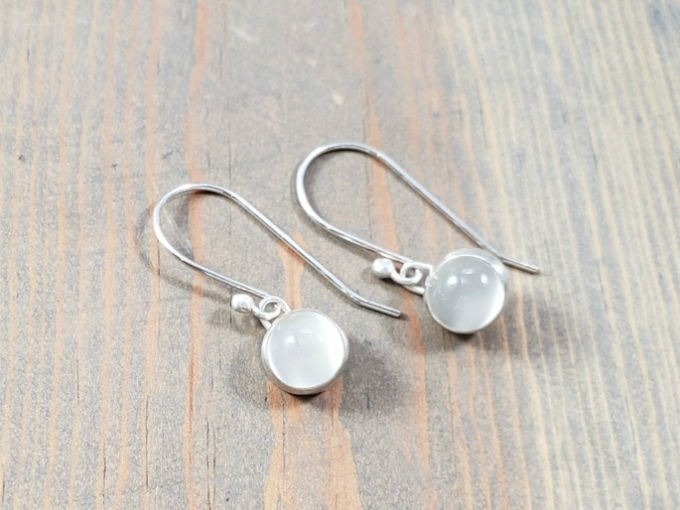 dainty gemstone earrings