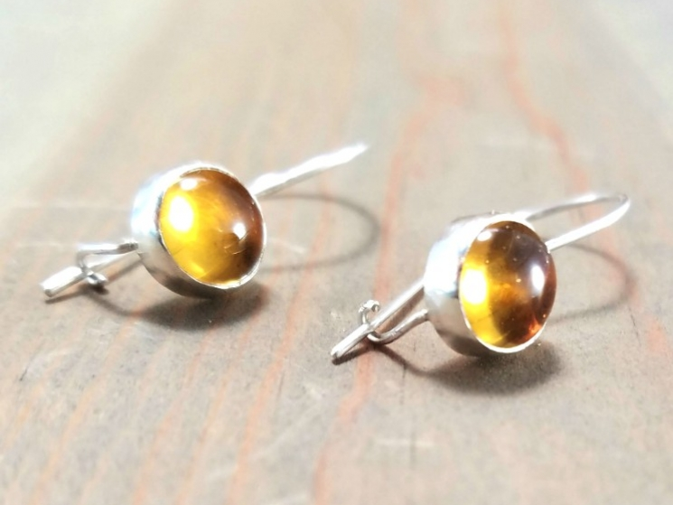 Yellow Gemstone Earrings