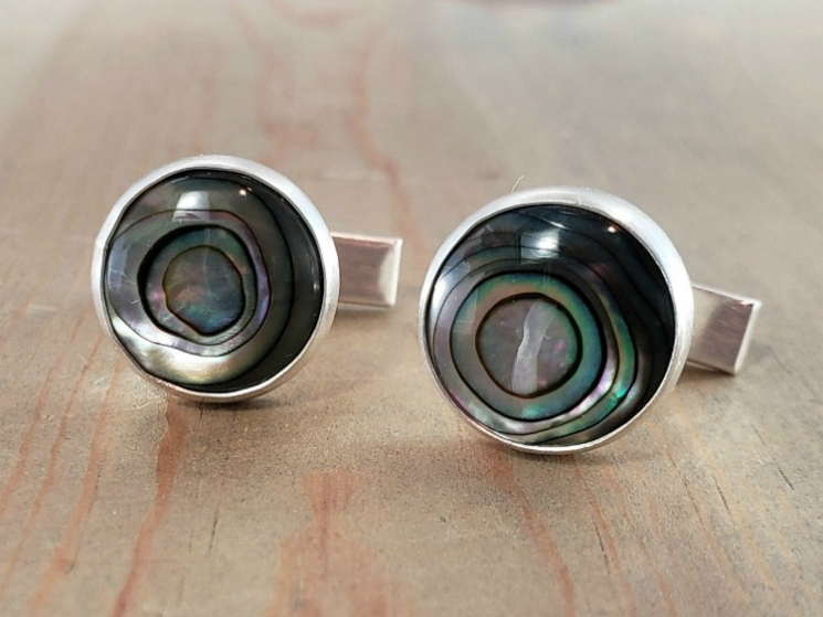 Paua Shell Cuff Links