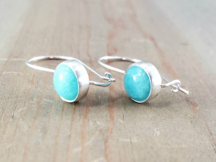 Blue Gemstone Locking Earrings