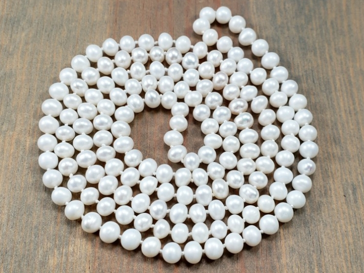 36 inch endless pearl necklace