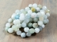 long aquarmarine beaded necklace with no clasp