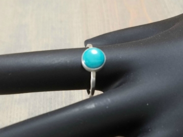 Turquoise Hammered Band Ring