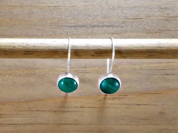 Green Dangle Earrings