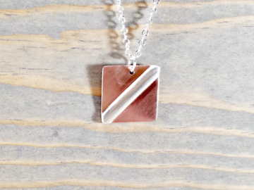Square Copper Pendant