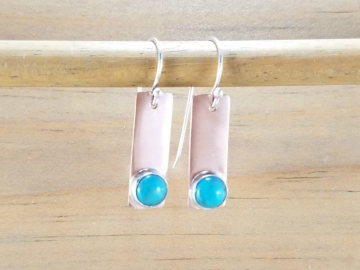 Turquoise Earrings on Copper