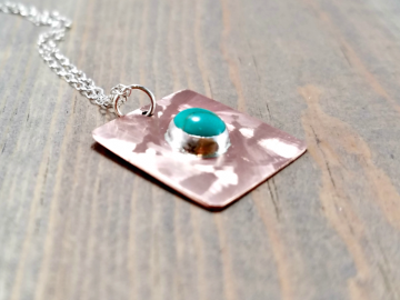 Turquoise Copper Charm