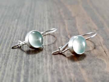 Blue Chalcedony Earrings