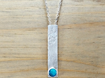 Turquoise Necklace Silver