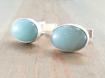 Blue Amazonite Cuff Links