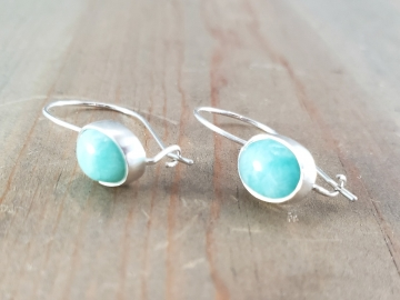 Amazonite Kidney Wire Earrings
