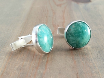 Green Amazonite Cufflinks