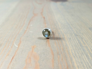 Single Labradorite Post Earring