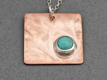 Square Copper Charm