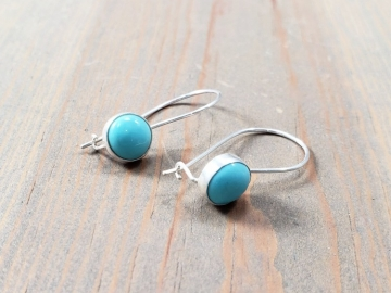 Kidney Wire Turquoise  Earrings