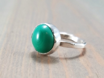 Malachite Solitaire Ring