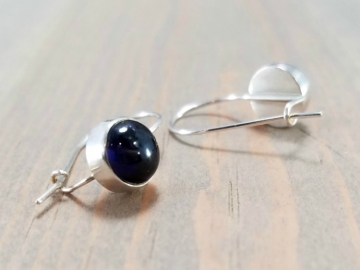 Blue Iolite Drop Earrings