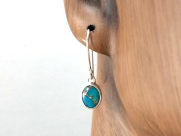 Copper Turquoise Dangle Earrings