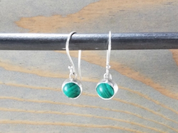 Green Malachite Drop Earrings