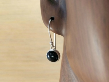 Small Black Onyx Earrings