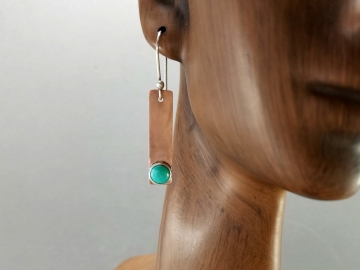 Turquoise Bar Earrings