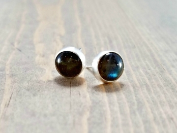 Labradorite Post Earrings
