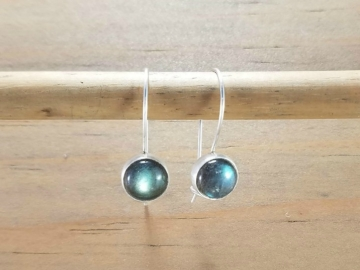 Locking Labradorite Earrings