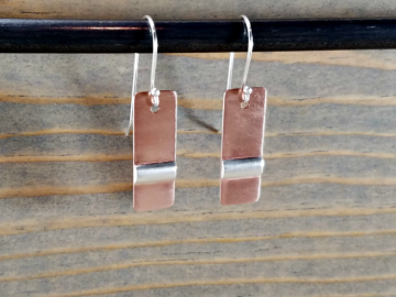 Copper and Silver Earrings