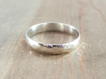 Distressed Hammered Ring