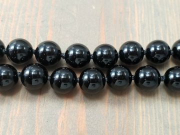 Simple Black Beaded Necklace