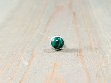 Single Malachite Stud Earring