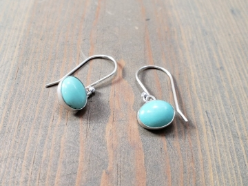 Oval Turquoise Dangles