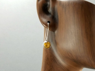 Yellow Citrine Dangle Earrings