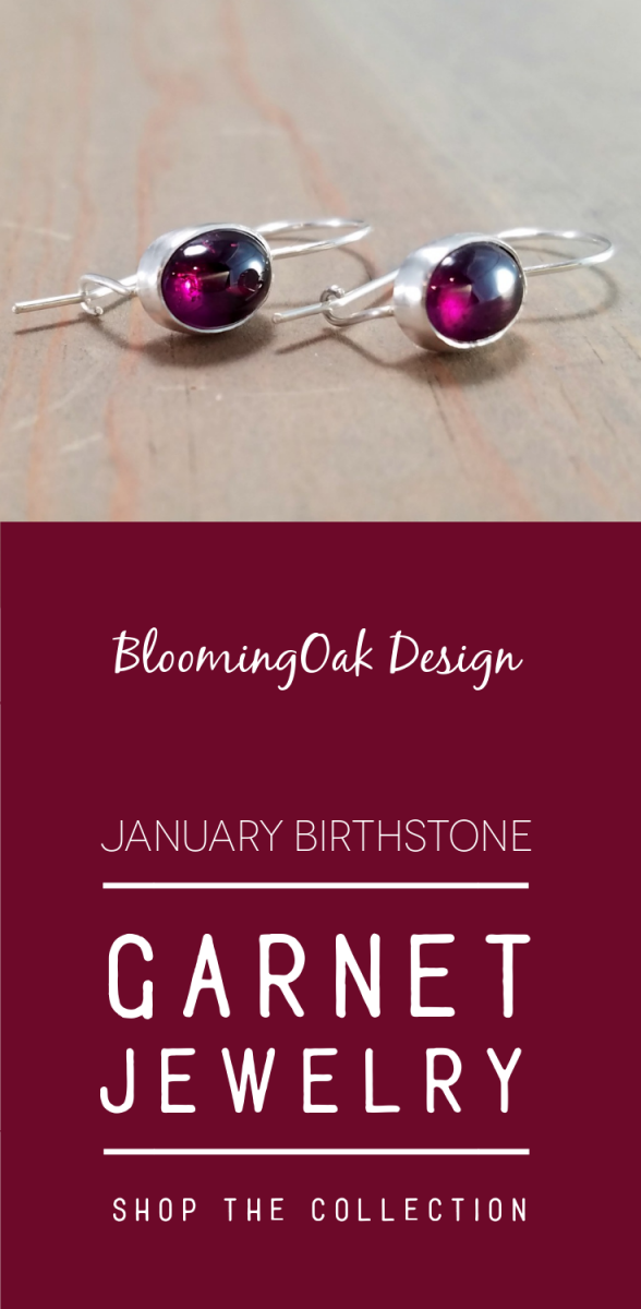 January Birthstone - Garnet Jewelry